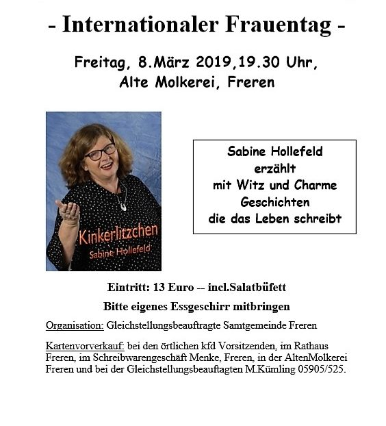 Internationaler Frauentag @ Alte Molkerei Freren