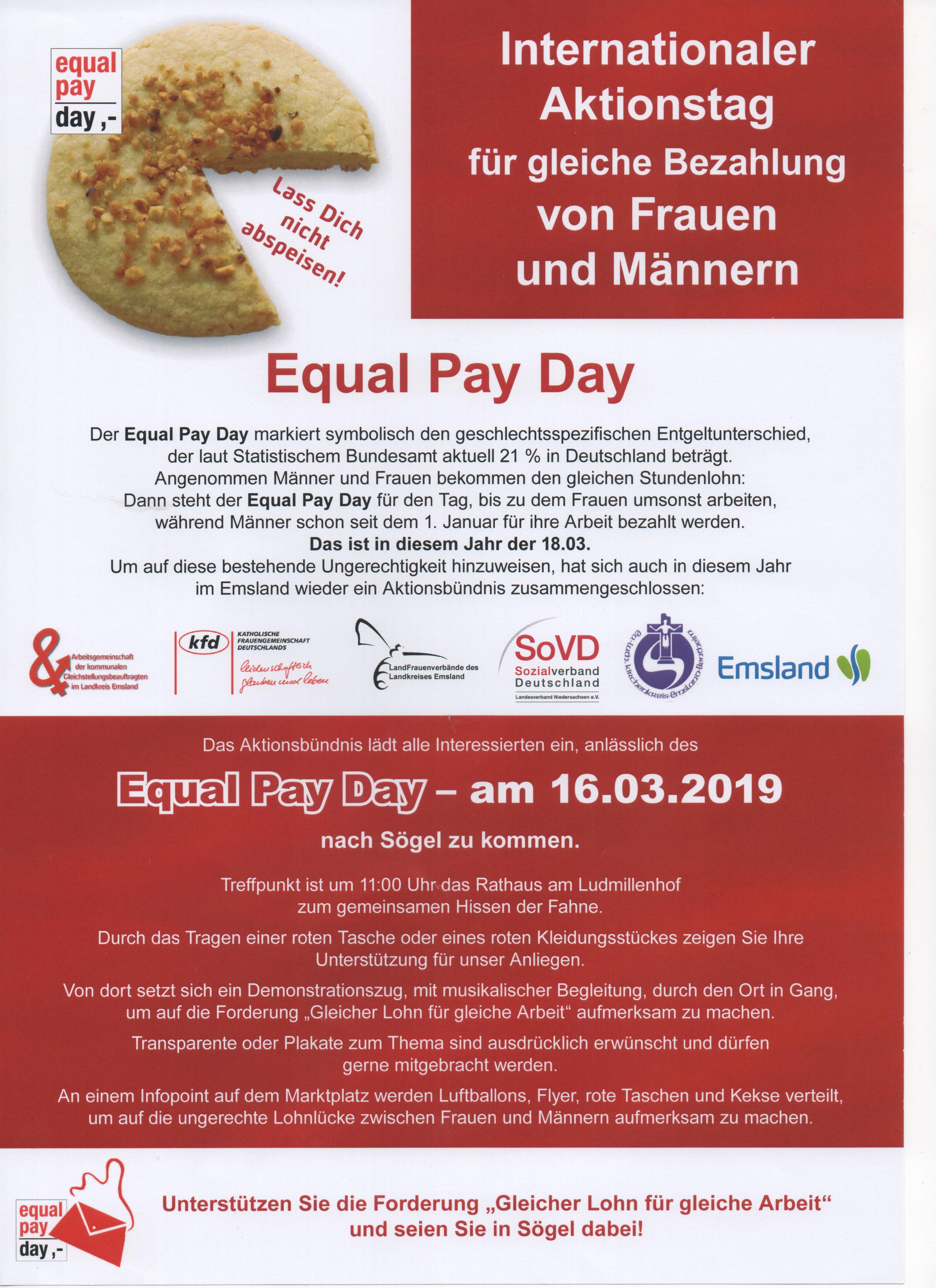 Equal Pay Day in Sögel @ Rathaus am Ludmillenhof, Sögel